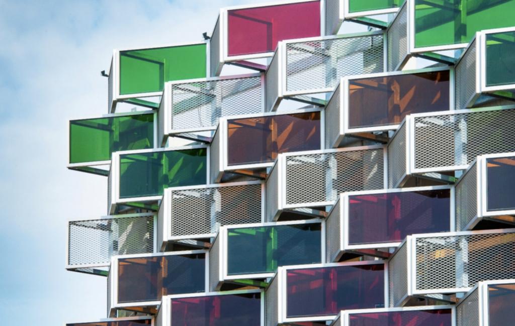 Fasadsystem parkeringshus i Linköping
